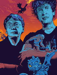 Oh look it is Neil Gaiman and Kazuo Ishiguro with their creations.