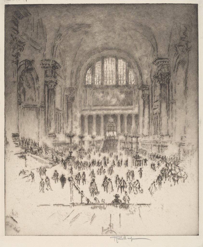 Joseph Pennell's The Marble Hall, Pennsylvania Station, New York