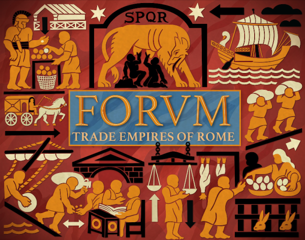 FORVM Trade Empires of Rome board game cover